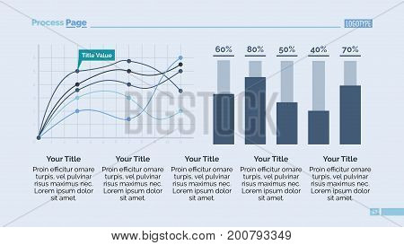 Data chart slide template. Business data. Graph, diagram, design. Creative concept for infographic, report. Can be used for topics like economics, analysis, research