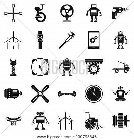 Apparatus icons set. Simple set of 25 apparatus vector icons for web isolated on white background