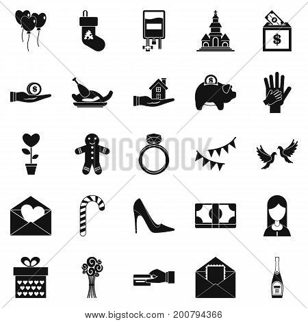 Bounty icons set. Simple set of 25 bounty vector icons for web isolated on white background