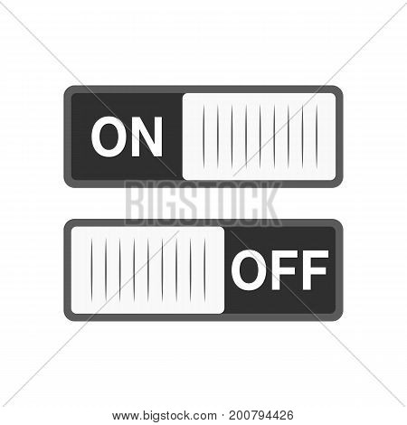 Toggle switch On and Off position. Switches in flat design. Vector illustration