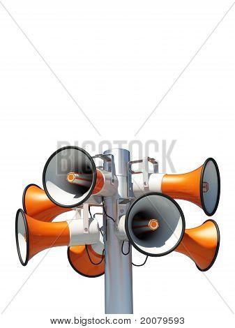 eight loudspeakers