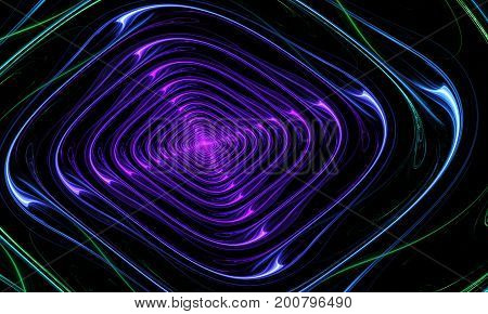 Illustration Of Concentric Circles And Lines.