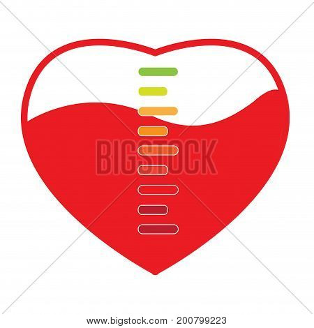 Isolated heart shape with an energy bar, Vector illustration