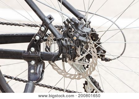 Parts of a bicycle. Sprocket rear Bicycle wheel