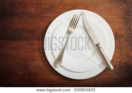 Place Setting, Do Not Like Signal On Wooden Background