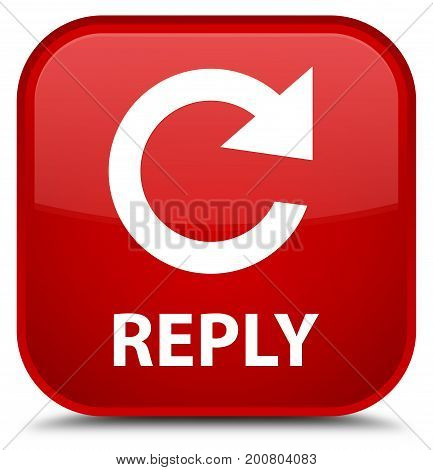 Reply (rotate Arrow Icon) Special Red Square Button