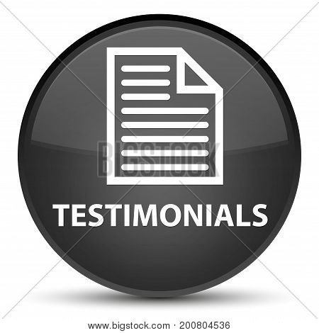 Testimonials (page Icon) Special Black Round Button