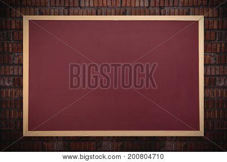Chalkboard    against full frame shot of wall