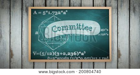Image of ac chalkboard against committee against green chalkboard