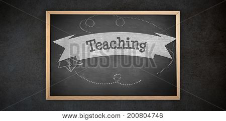 Image of ac chalkboard against teaching against black background