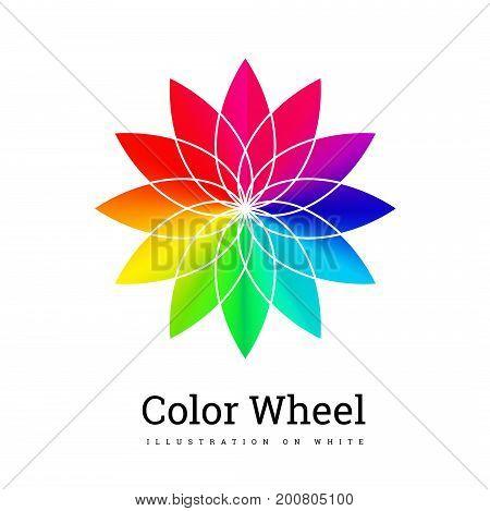 Color Wheel vector illustration on white background