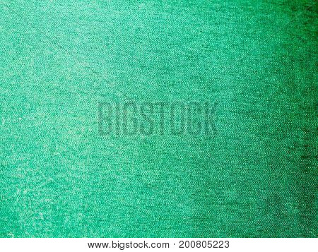 close up detail of green cloth texture; England; UK