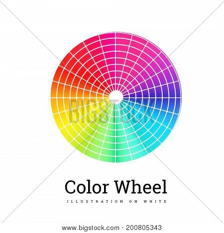Color Wheel vector illustration on white background