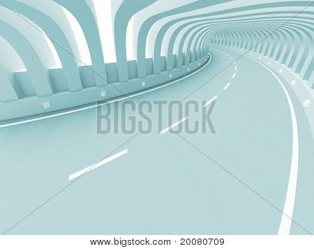 Abstract Road Construction