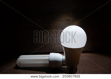 Choice of led or energy saving lamp. The choice between good and best. A winner and a loser.