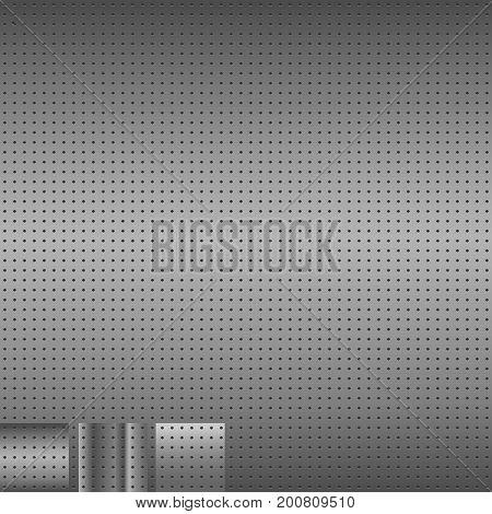 Metal Background. Set of 3 metal backgrounds. Vector illustation