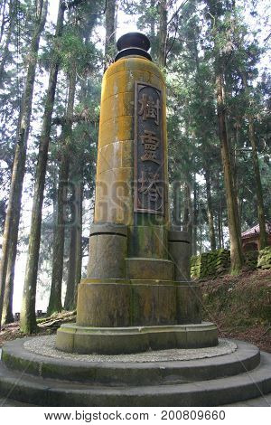 The Tree Spirit Tower At A Nature Trail Of Alishan