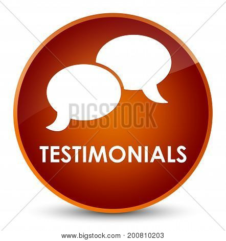 Testimonials (chat Icon) Elegant Brown Round Button