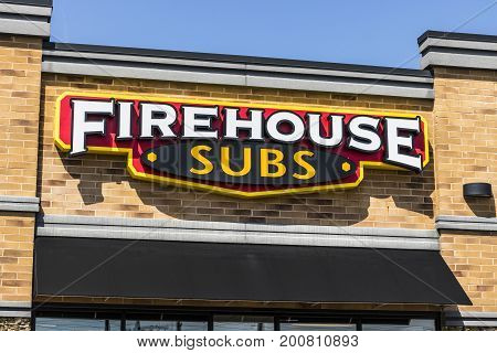 Ft. Wayne - Circa August 2017: Firehouse Subs fast casual restaurant. Firehouse specializes in hot submarine sandwiches
