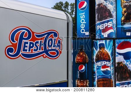 Ft. Wayne - Circa August 2017: Pepsi and PepsiCo Vending Machines Awaiting Repair. Pepsi is one of the largest beverage producers in the world