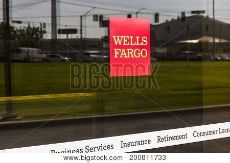 Ft. Wayne - Circa August 2017: Wells Fargo Retail Bank Branch. Wells Fargo is a Provider of Financial Services