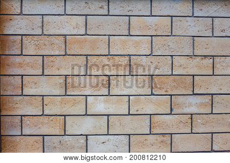 brick wall background of old building. Texture background