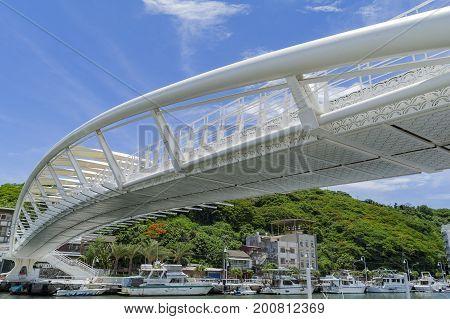 Bridge With Blue Sky At Si Zih Wan