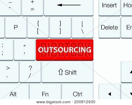 Outsourcing Red Keyboard Button