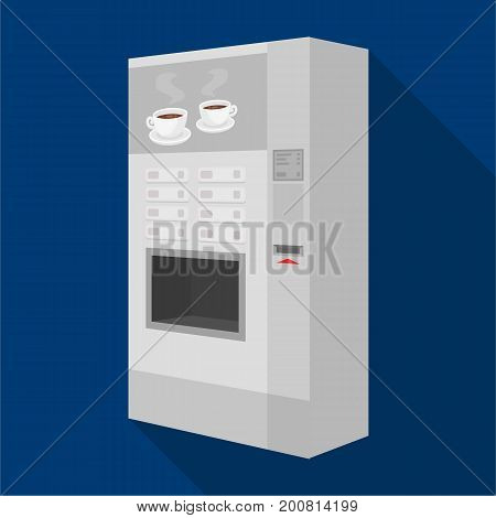 A machine for making coffee. Office equipment single icon in flat style Isometric vector symbol stock illustration .