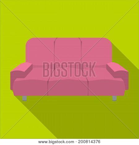 Soft, stylish and comfortable sofa. Furniture single icon in flat style Isometric vector symbol stock illustration .