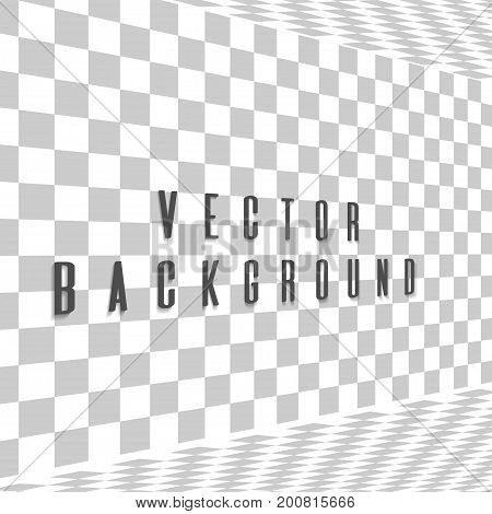Abstract background with a side perspective. Vector illustration.