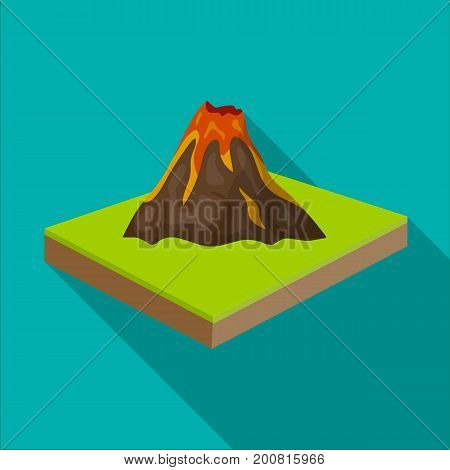 Mountains, volcanoand landscape. Relief and mountains single icon in flat style isometric vector symbol stock illustration .