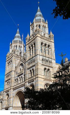 The British Natural History museum is recognised as the pre-eminent centre of natural history and research of related fields in the world. London, United Kingdom.