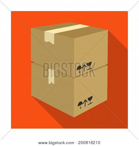 Packaged boxes with goods. Logistics delivery single icon in flat style isometric vector symbol stock illustration .
