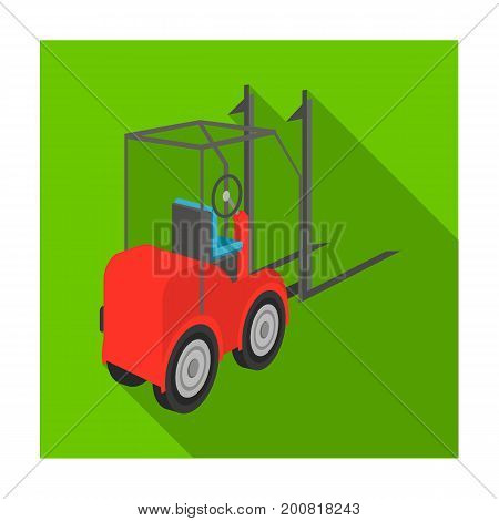 Loader for moving loads. Transportation and delivery single icon in flat style isometric vector symbol stock illustration .