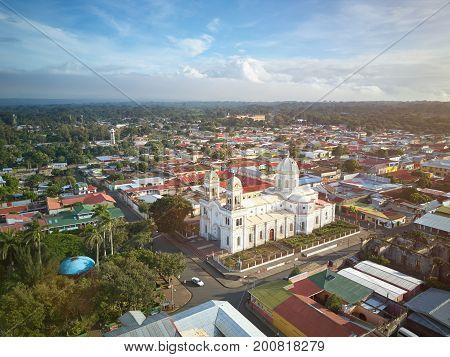 Church in Diriamba city Carazo department Nicaragua. Travel  destination in Nicaragua