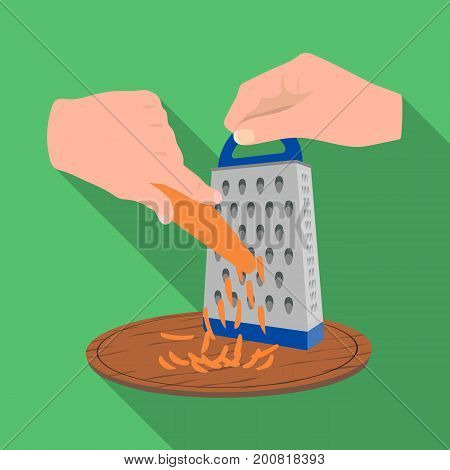 Grater, single icon in flat style.Grater, vector symbol stock illustration .