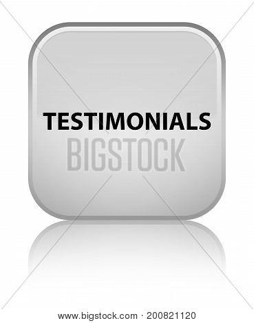 Testimonials Special White Square Button
