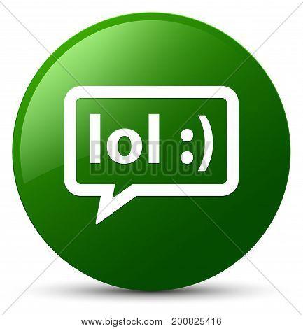 Lol Bubble Icon Green Round Button