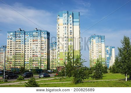 RUSSIA NIZHNY NOVGOROD - AUG 20 2017: One of cities of World Cup 2018. Despite fact that Nizhny Novgorod is an ancient city he looks young