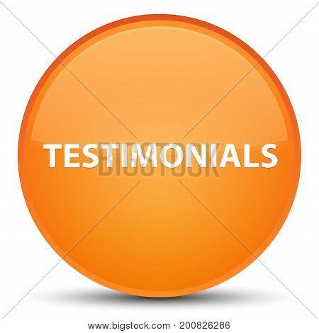 Testimonials Special Orange Round Button