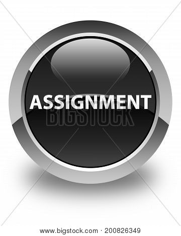 Assignment Glossy Black Round Button