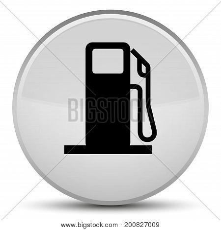 Fuel Dispenser Icon Special White Round Button