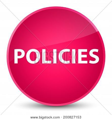 Policies Elegant Pink Round Button