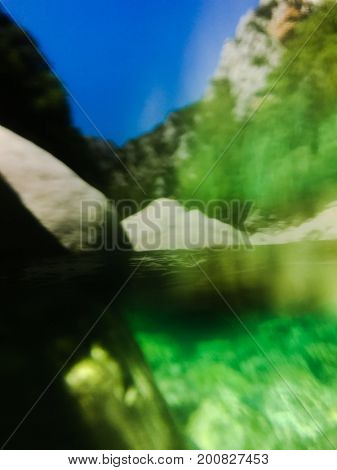 Abstraction view on a river