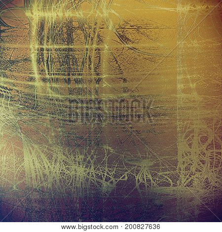 Scratched vintage texture, grunge style frame or background. With different color patterns
