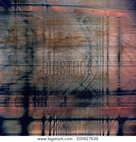 Vintage template or background with grungy texture, antique decor and different color patterns