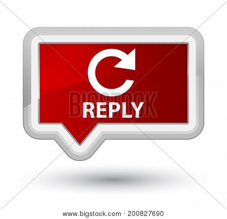 Reply (rotate Arrow Icon) Prime Red Banner Button