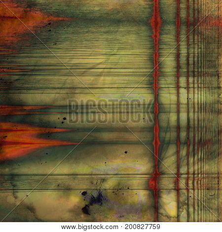 Rough textured backdrop, abstract vintage background with different color patterns