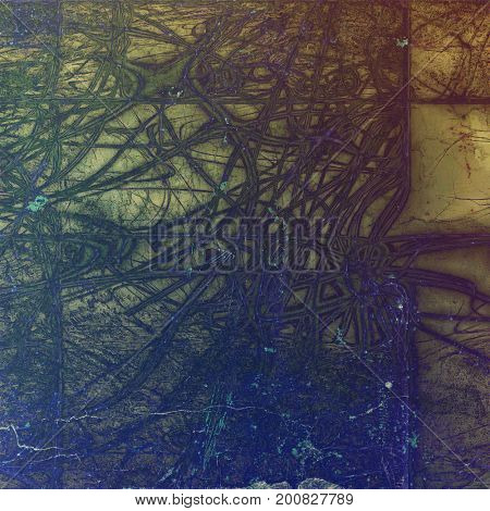 Old grunge vintage background or shabby texture with different color patterns